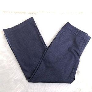Ann Taylor Loft Navy Blue Flare Leg Pants